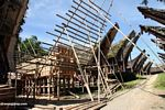 Construction of a traditional home in Palawa (Toraja Land (Torajaland), Sulawesi)