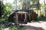 Stone tomb at Pana (Toraja Land (Torajaland), Sulawesi)