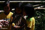 Little girls playing with bubbles in Pana (Toraja Land (Torajaland), Sulawesi) -- sulawesi7135