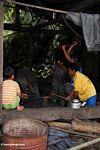 Blacksmiths hammering metal (Toraja Land (Torajaland), Sulawesi)
