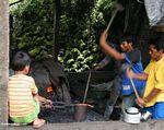 Blacksmiths mnking a machete (Toraja Land (Torajaland), Sulawesi)