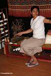 Silk spinner in Rantepao (Toraja Land (Torajaland), Sulawesi)