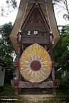 Wealthy family's burial tomb--made of concrete (Toraja Land (Torajaland), Sulawesi)
