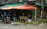 Durian fruit for sale in Sengkang (Sulawesi - Celebes)