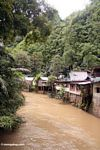 Homes downriver from the Bantimurung waterfalls (Sulawesi - Celebes)