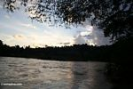 Sunset over the Malaysian jungle and the Tembeling river