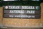 Sign for Taman Negara National Park