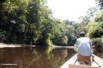 Long boat up the Tahan River in Taman Negara