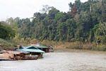 Floating restaurants along the Tembeling River