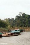 Floating restaurants of Nusa village along the Tembeling River